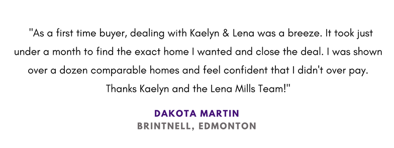 Buyer Experience Edmonton Lena Mills Realtor Review