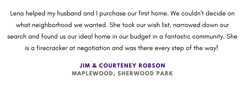 First Home Buyer Fantastic Experience Sherwood Park Edmonton Lena Mills Realtor Review
